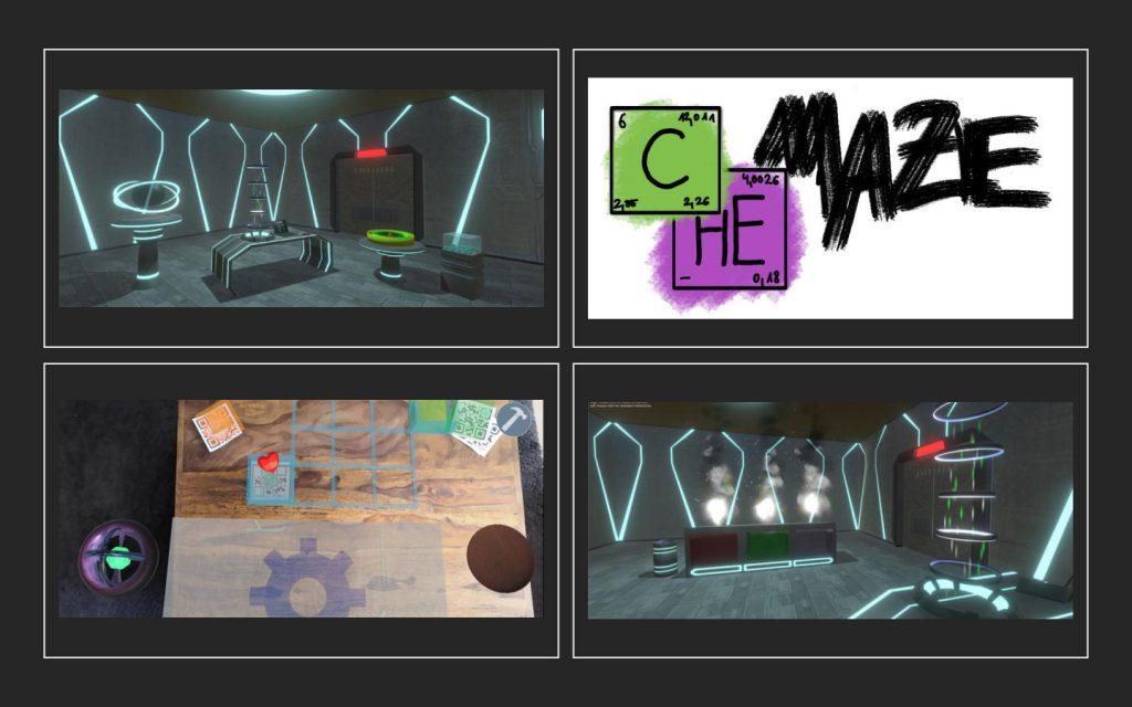 Das Bild zeigt das Logo und drei Szenen aus dem Spiel
