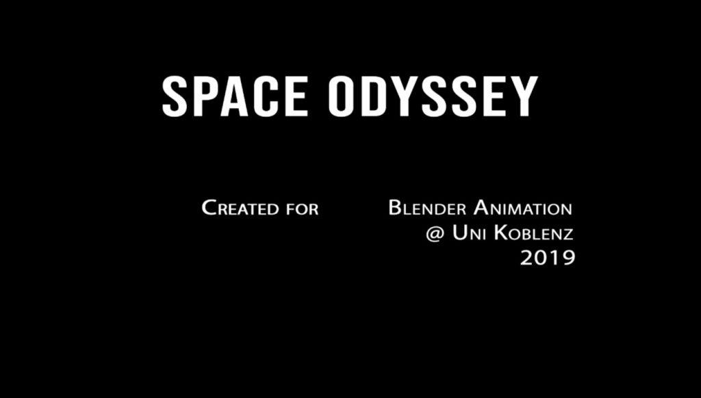 Das Logo des Films Space Odyssey
