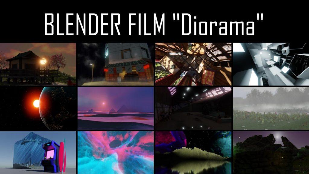Eine Collage aus Szenen des Blender Films